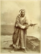 algeria north african tribesman whit handcrafted fiddle 1890